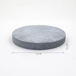 PEDRA SABÃO PARA RECHAUD REDONDO RP23, 21,5x2,5cm